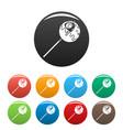 sweet lollipop icons set color vector image vector image
