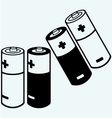 symbol batteries vector image