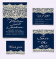 templates of invitation lace cards for wedding vector image vector image