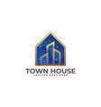 town house template vector image