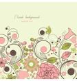 vintage floral festive frame vector image vector image