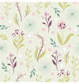 Vintage seamless pattern with flowers
