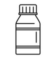 vitamin pill jar icon outline style vector image vector image
