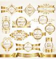 white gold-framed ornate labels vector image vector image