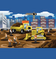 workers in a construction site vector image