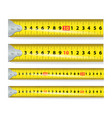 yellow measure tape measure tool equipment vector image vector image