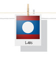 photo of laos flag on white background vector image