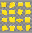 yellow office business sticky memory notes sticker vector image
