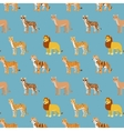 Seamless pattern with cartoon animals vector image
