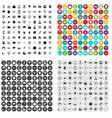 100 data visualization icons set variant vector image