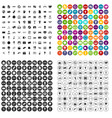 100 video icons set variant
