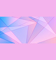 abstract blue and pink gradient polygonal pattern vector image