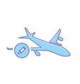 airplane edit flight plane transport travel icon vector image vector image