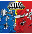 battle of the robots background design vector image vector image