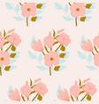 beautiful pink aand blue flower bouquet vector image vector image