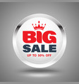 big sale circle banner vector image