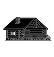 black wooden house vector image