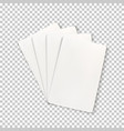blank playing cards template for your successful vector image vector image