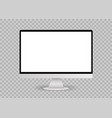 blank white computer screen mockup vector image vector image