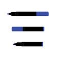 Blue marker set vector image