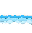 blue sky white clouds border white background vector image vector image
