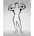 body builder2 vector image