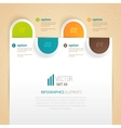Business tab for options vector image vector image