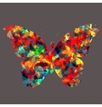 Butterfly Icon Silhouette vector image vector image