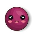 cartoon emoticon purple smiling design vector image
