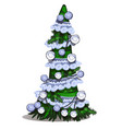 cartoon topiary in form a cone christmas vector image vector image