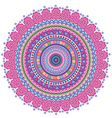 Circle tribal pattern vector image