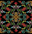colorful baroque seamless pattern vector image vector image