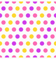 colorful polka dots on white background vector image