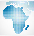 continent africa blue dotted map vector image