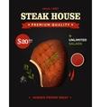 Creative steak house poster design Realistic vector image