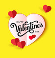 design banner with lettering happy valentines day vector image vector image