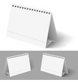 desk calendar on white for design vector image