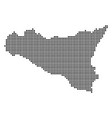 dotted pixel sicilia map vector image vector image