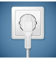 Electrical outlet with plug vector image
