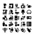 electronics icons 4 vector image