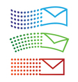 Email flying icons vector