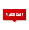 flash sale red tag vector image vector image