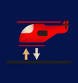 flat icon in shading style helicopter landing vector image vector image