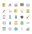 flat icons pack of education vector image vector image