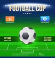 football event poster design night football vector image vector image