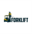 forklift logo vector image vector image