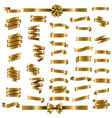 golden ribbon set vector image vector image