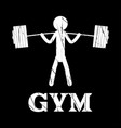 gym squat icon human grunge symbol flat vector image