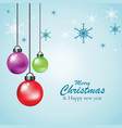hanging colorful christmas ball vector image vector image