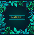 herbal pre-made frame composition natural vector image